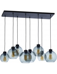 Lampa wisząca kule Cubus Graphite 8 punktowa grafitowa szklana 4113 - TK Lighting