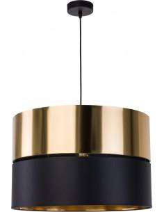Lampa wisząca Hilton 1 punktowa czarno złota 4346 - TK Lighting