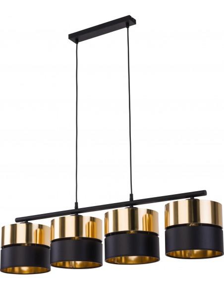Lampa wisząca 4 punktowa Hilton czarno złota 4342 - TK Lighting
