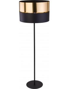 Lampa podłogowa 1 punktowa Hilton czarno złota 5465 - TK Lighting