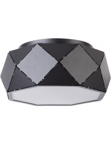 Plafon Jota M 3 punktowy czarny 31885 - Sigma