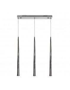 Lampa wisząca 3 punktowa LED Asta III sopel chrom zwis - Orlicki Design
