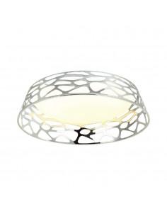 Plafon LED designerski Forina cromo PL chrom okrągły - Orlicki Design