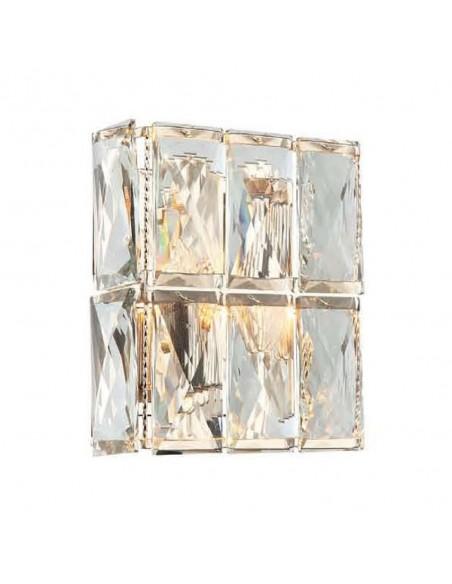 Kinkiet 2 punktowy kryształowy Intero parette gold złoty - Orlicki Design