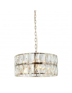 Lampa 6 punktowa kryształowa wisząca Intero gold S złota okrągła - Orlicki Design