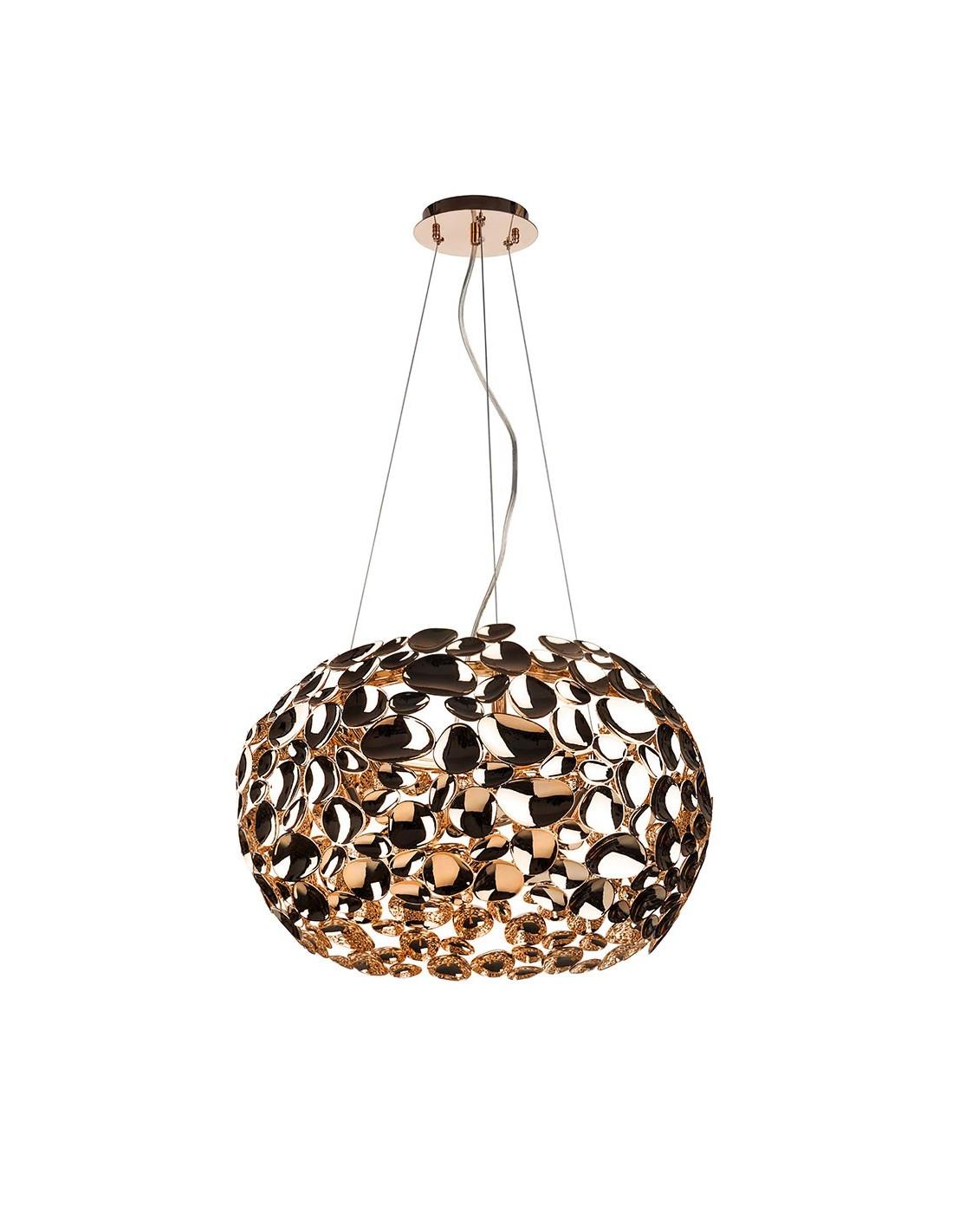 Lampa wisząca złota 6 punktowa Carera gold metalowa designerska Orlicki Design