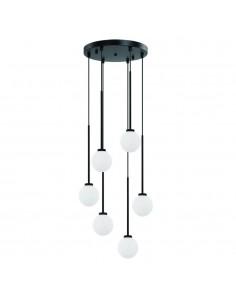 Lampa wisząca 6 punktowa Ota VI szklane klosze kule - Orlicki Design