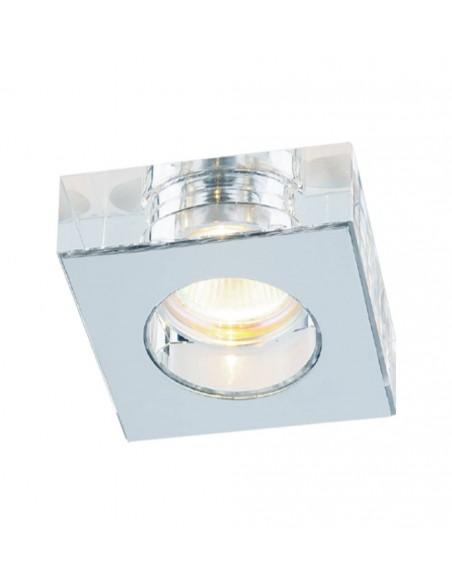 Oprawa podtynkowa kwadratowa Astro cromo szklana chrom kwadratowa - Orlicki Design