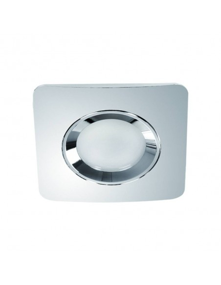 Oprawa podtynkowa IP44 łazienkowa Bello chrom oczko kwadratowe - Orlicki Design