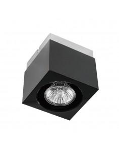 Downlight natynkowy kwadratowy Cubo nero czarny GU10 - Orlicki Design