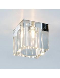 Downlight szklany kwadratowy Cubo claro transparentny - Orlicki Design