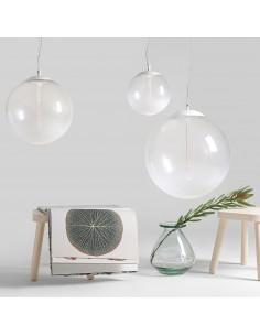 Lampa wisząca LED Planet L szklana kula 40cm - Orlicki Design