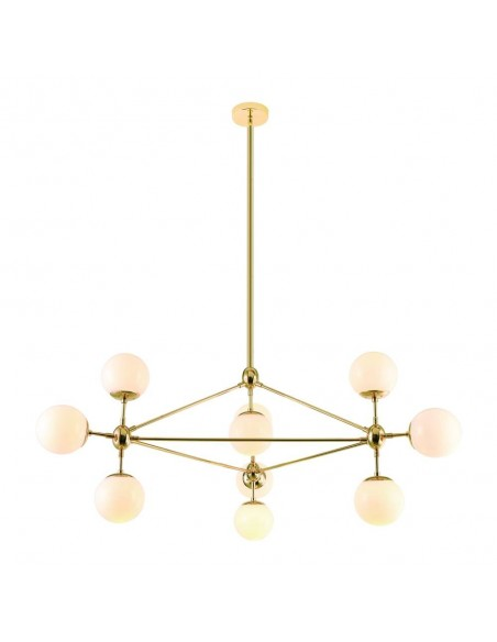 Lampa sufitowa 10 punktowa Bao gold złota szklane kule - Orlicki Design