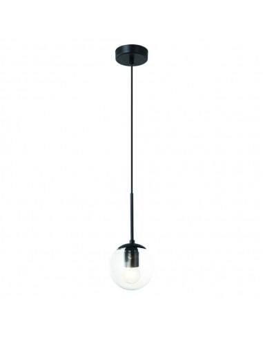 Lampa wisząca 1 punktowa Bao nero I claro szklana kula - Orlicki Design