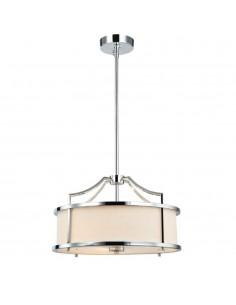 Lampa sufitowa 3 punktowa Stanza cromo S chrom kremowy abażur - Orlicki Design