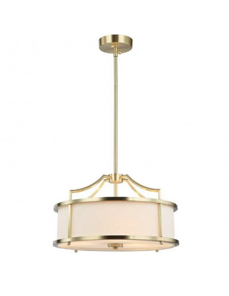 Lampa sufitowa 3 punktowa złota Stanza old gold S kremowy abażur - Orlicki Design