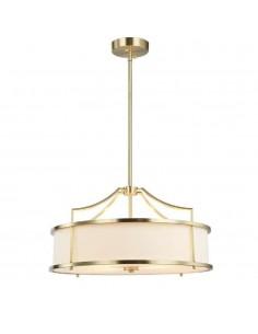 Lampa sufitowa 4 punktowa Stanza old gold M złota z kremowym abażurem - Orlicki Design