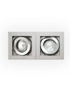Oprawa podtynkowa regulowana 2 punktowa Robo I I srebrna - Orlicki Design