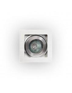 Oprawa podtynkowa 1 punktowa regulowana kwadratowa Robo I srebrne oczko - Orlicki Design