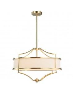 Lampa sufitowa 4 punktowa złota Stesso old gold M kremowy abażur - Orlicki Design