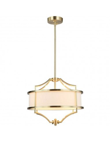 Lampa sufitowa złota 4 punktowa Stesso old gols S kremowy abażur - Orlicki Design