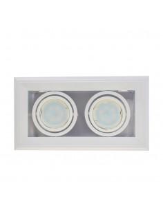 Oprawa podtynkowa BLOCCO 2 biała regulowana 7W GU10 LED ML473 - Milagro