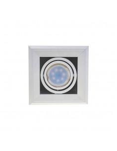 Oprawa podtynkowa BLOCCO 1 biała regulowana 7W GU10 LED ML471 - Milagro