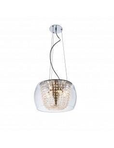 Lampa wisząca 10 punktowa Lexus 500 S claro chrom kryształki szklana - Orlicki Design