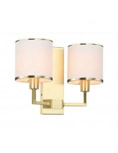 Kinkiet 2 punktowy Casa parette gold złoty kremowe abażury - Orlicki Design