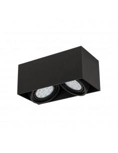 Oprawa natynkowa regulowana 2 punktowa Cardi II Nero czarna ES111 - Orlicki Design