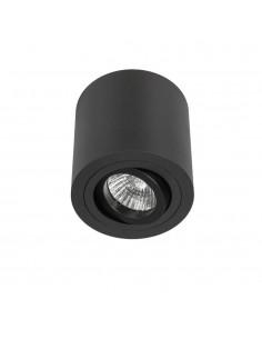 Oprawa natynkowa 1 punktowa regulowana 9,5 cm Rullo nero czarna tuba - Orlicki Design