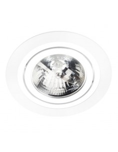 Oprawa podtynkowa ES111 ALCAZAR 140.WC oczko wpust okrągły biel i chrom - Lumifall