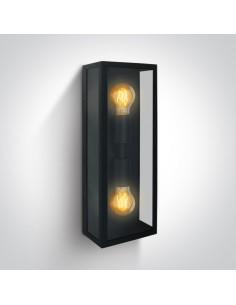 Kinkiet elewacyjny Gabbia 2 punktowy czarny IP43 NL67406BB - Zeni