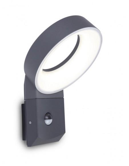Kinkiet elewacyjny LED Meridian z czujnikiem ruchu 14W antracytowy - Lutec