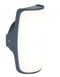 Kinkiet elewacyjny zewnętrzny LED Seco 13W szary IP54  - Lutec