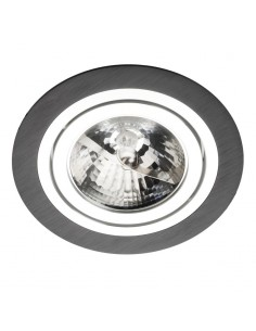 Oprawa podtynkowa ALCAZAR 140.BC oczko ES111 okrągłe czarne i chrom - Lumifall