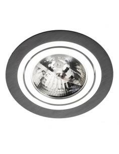 Oprawa podtynkowa Alcazar LMF.AZ140BC oczko ES111 okrągłe czarne i chrom - Lumifall