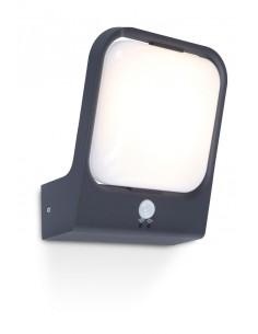 Kinkiet elewacyjny LED Faccia IP54 z czujnikiem ruchu 18W szary - Lutec