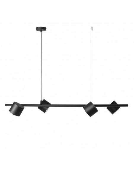 Lampa wisząca 4 punktowa czarna Bot 1047L regulowana - Aldex