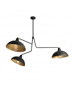 Lampa wisząca Espace 3 punktowa czarna regulowana 1036E1 - Aldex