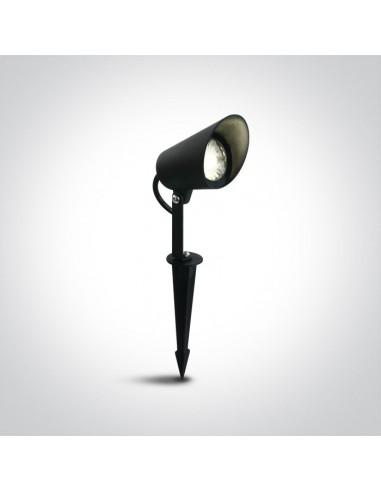 Lampa ogrodowa LED Moira 8w IP65 czarna wbijana 67458/B/W - OneLight