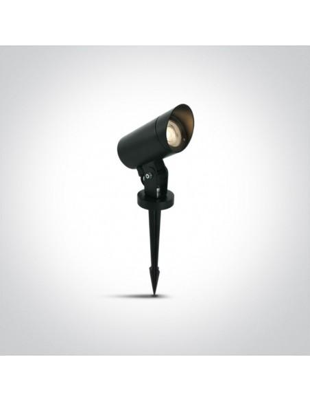Lampa ogrodowa naświetlacz regulowany Doumena IP65 czarna 67464G/B - OneLight