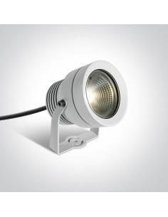 Lampa ogrodowa reflektor LED Roisan biały 20W IP65 7047/W/W - OneLight