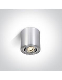 Tuba natynkowa regulowana GU10 Krokos 1 punktowa srebrna 9,5cm 12105AB/AL - OneLight