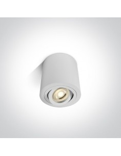 Tuba regulowana 1 punktowa Krokos GU10 biała 9,5cm 12105AB/W - OneLight
