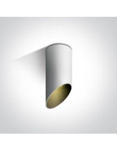 Tuba nowoczesna Lindos biało-czarna 15cm ścięta 12105E1/W/B - OneLight