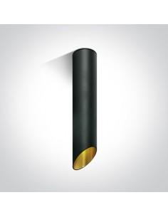 Tuba nowoczesna 30cm Litochoro czarno-złota ścięta 12105E2/B/GL - OneLight