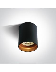 Tuba natynkowa czarna GU10 Muzaki 12105N/B - OneLight