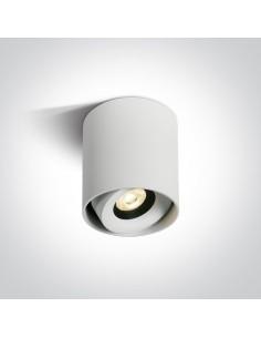Biała tuba regulowana LED Pylos biała 8W 12108X/W/W - OneLight