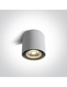 Oprawa natynkowa 1 punktowa tuba Naksos ES111 biała 12144/W - OneLight